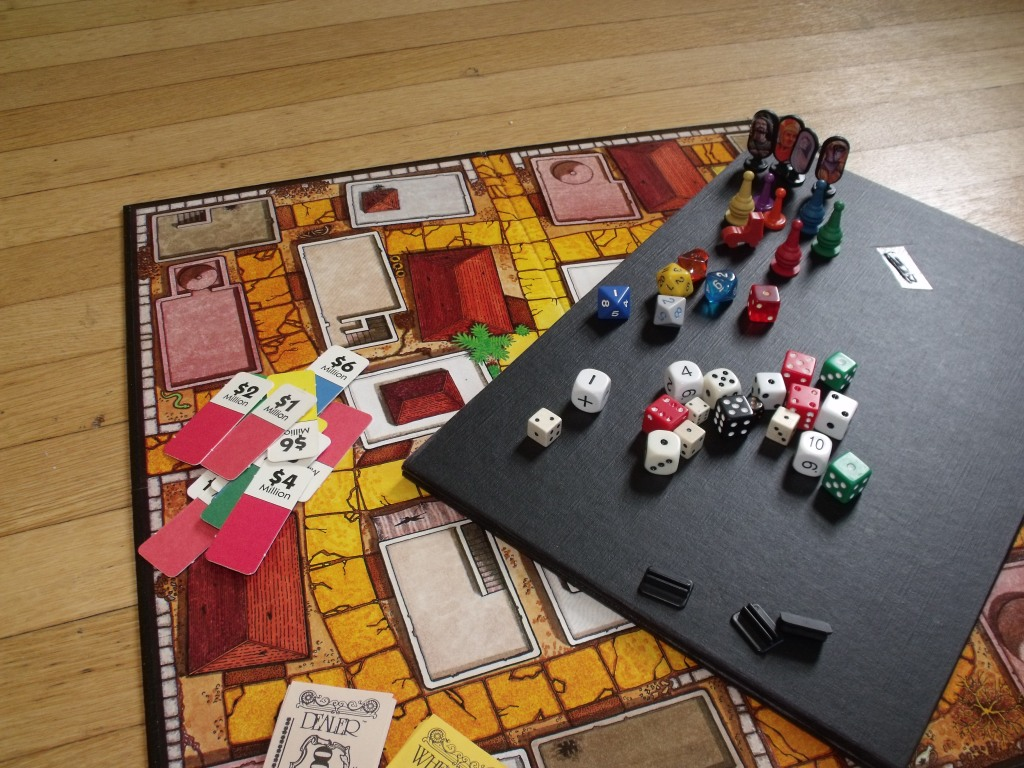 Boards, dice, pawns. the remnants of an old game or two can be the makings of a new, better game
